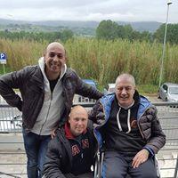 da sinistra Luciano Mereu, il Campione del mondo Jacopo Falsini e Fabrizio Fracassi